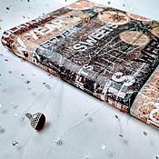 Записные книжки ручной работы. Ярмарка Мастеров - ручная работа Блокнот для записей, записная книга #глинтвейн. Handmade.