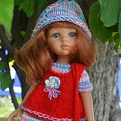 Куклы и игрушки handmade. Livemaster - original item Dress, cap, vest, leggings and bag for Paola Reina.. Handmade.