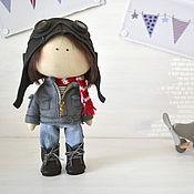 """Куклы и игрушки ручной работы. Ярмарка Мастеров - ручная работа текстильная куколка-малышка """"VOL DE NUIT"""". Handmade."""