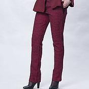 """Одежда ручной работы. Ярмарка Мастеров - ручная работа Шерстяные брюки """"Бордо"""" женские валяные. Handmade."""