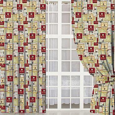Текстиль ручной работы. Ярмарка Мастеров - ручная работа Шторы Кафе. Handmade.