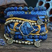 Украшения handmade. Livemaster - original item Lapis Lazuli bracelet boho style