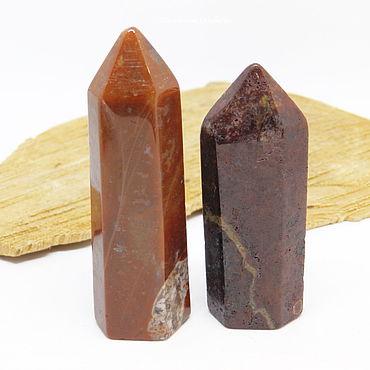 Феншуй ручной работы. Ярмарка Мастеров - ручная работа Пара кристаллов из красной яшмы 56-63 мм. Handmade.