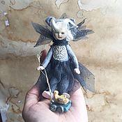 Куклы и пупсы ручной работы. Ярмарка Мастеров - ручная работа Кукла Мышка с уточкой. Handmade.