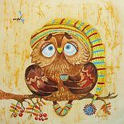 Картины и панно ручной работы. Ярмарка Мастеров - ручная работа Совы рано не просыпаются. Handmade.
