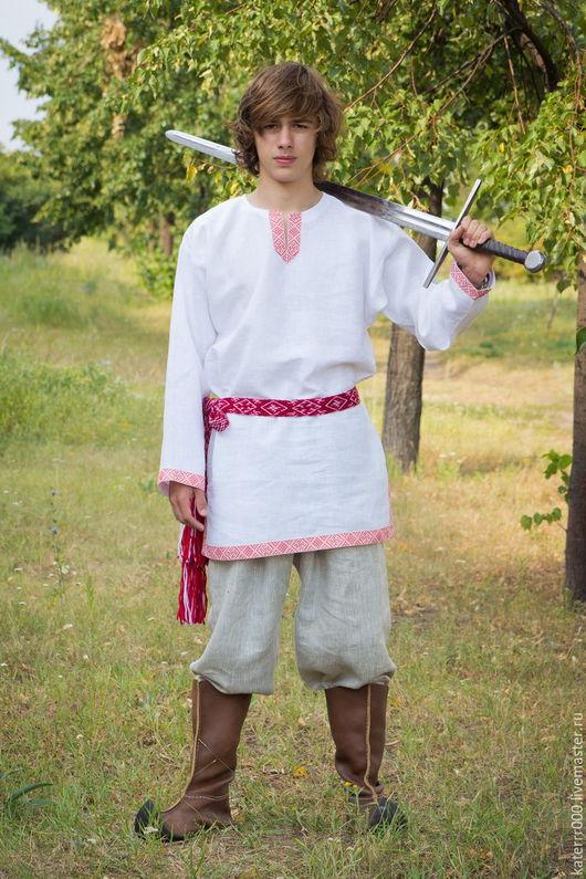 """Одежда ручной работы. Ярмарка Мастеров - ручная работа. Купить Рубаха """"Одолень-трава""""  белая. Handmade. Белый, русская одежда"""