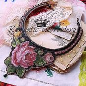 """Украшения ручной работы. Ярмарка Мастеров - ручная работа колье """"vintage embroidery"""". Handmade."""