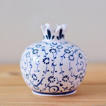 Посуда ручной работы. Ярмарка Мастеров - ручная работа Керамическая вазочка (гранат белый). Handmade.