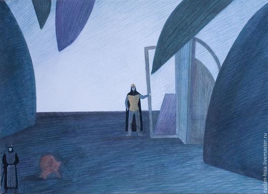 Абстракция ручной работы. Ярмарка Мастеров - ручная работа. Купить Серия эскизов декораций. Handmade. Картина, декор для интерьера, купить