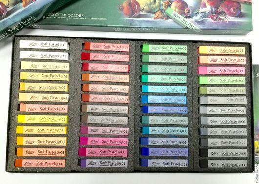 Материалы для флористики ручной работы. Ярмарка Мастеров - ручная работа. Купить Сухая мягкая пастель Gallery, Mungyo, 48 цветов, К-908. Handmade.