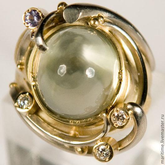 """Кольца ручной работы. Ярмарка Мастеров - ручная работа. Купить Кольцо с лунным камнем """"Лунный свет"""". Handmade. Авторская работа"""