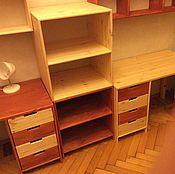 Столы ручной работы. Ярмарка Мастеров - ручная работа Письменный стол и стеллажи для книг. Handmade.