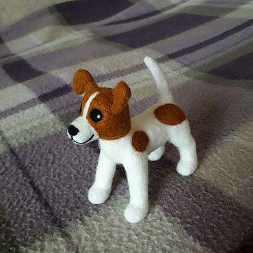 Куклы и игрушки ручной работы. Ярмарка Мастеров - ручная работа Собака валяная, джек-рассел терьер. Handmade.