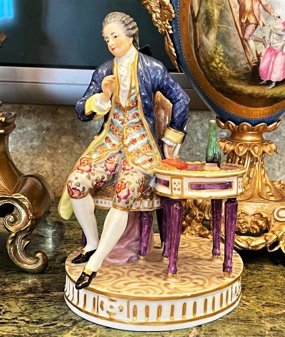 Винтаж: Антикварная статуэтка, фарфор, Франция 19 век, Предметы интерьера винтажные, Москва,  Фото №1