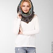 Аксессуары handmade. Livemaster - original item Double combo scarf-collar