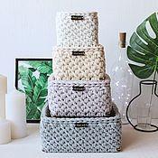 Для дома и интерьера handmade. Livemaster - original item Knitted yarn basket set 4 baskets.. Handmade.