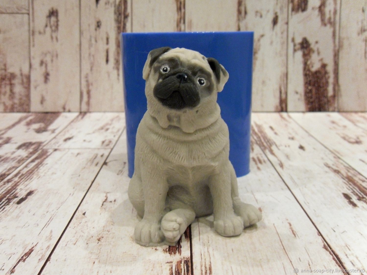 Silicone mold for soap and candles ' Pug №2', Form, Arkhangelsk,  Фото №1