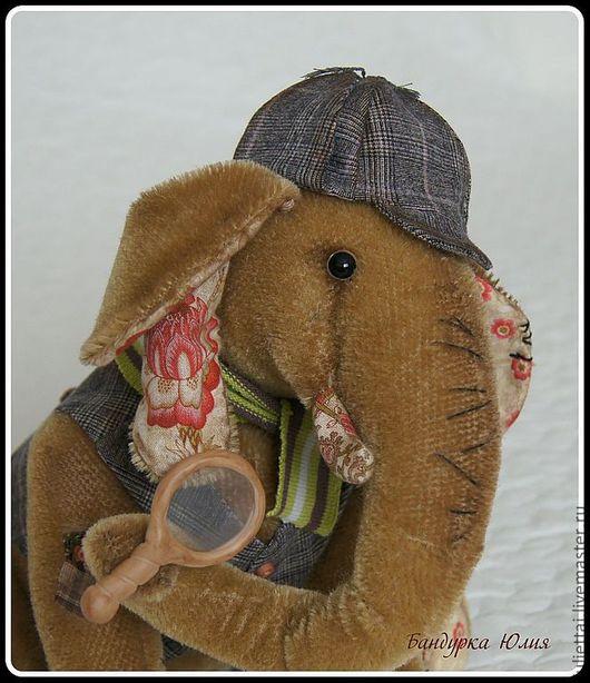 Мишки Тедди ручной работы. Ярмарка Мастеров - ручная работа. Купить Следствие ведет Слон!. Handmade. Коричневый, глаза стеклянные