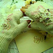 Митенки ручной работы. Ярмарка Мастеров - ручная работа Митенки для невесты зимние.. Handmade.