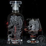 Посуда handmade. Livemaster - original item Dragons. Brandy set. Handmade.