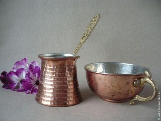 Винтажная посуда. Ярмарка Мастеров - ручная работа. Купить Набор для кофе, турка & чашка, медь, винтаж, Германия. Handmade.