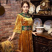 Одежда handmade. Livemaster - original item Author`s dress Gold Velvet. Handmade.