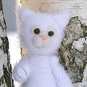 Куклы и игрушки ручной работы. Ярмарка Мастеров - ручная работа Белоснежный котенок. Handmade.