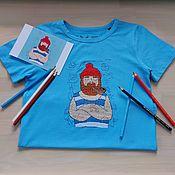 handmade. Livemaster - original item Children`s T-shirt with hand embroidery