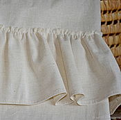 Curtains1 handmade. Livemaster - original item Linen curtains with ruffles in the style of Shabby Chic. Handmade.