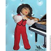 """Куклы и игрушки ручной работы. Ярмарка Мастеров - ручная работа кукла """" Девочка -скрипачка"""". Handmade."""