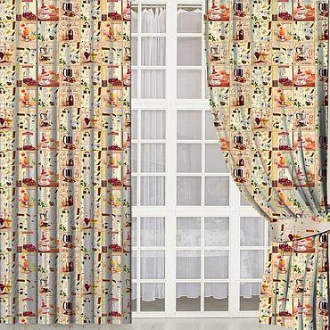 """Текстиль ручной работы. Ярмарка Мастеров - ручная работа Шторы """"Capuccino"""". Handmade."""