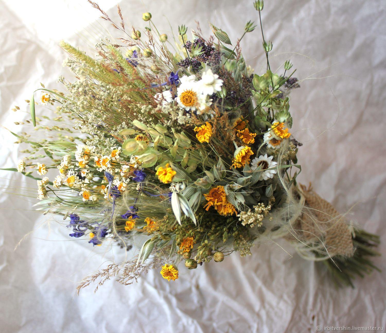 """Букет из сухоцветов """"наше лето..."""" лёгкий нежный небольшой, Букеты, Лениногорск,  Фото №1"""