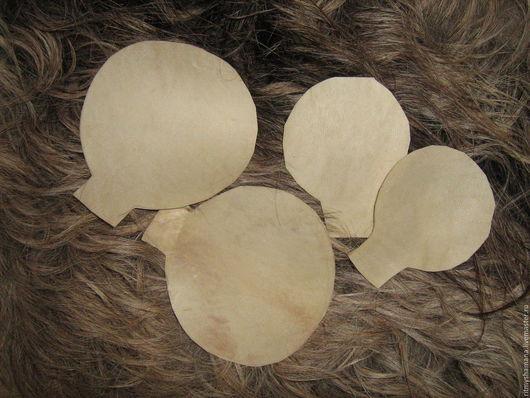 детали для шаманской погремушки, натуральная кожа.