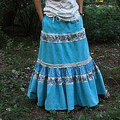 """Одежда ручной работы. Ярмарка Мастеров - ручная работа Вельветовая юбка """"Летние облака"""". Handmade."""