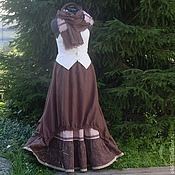 Одежда handmade. Livemaster - original item No. 135 Linen skirt boho. Handmade.