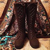 """Обувь ручной работы. Ярмарка Мастеров - ручная работа Валяные сапожки """"Шоколад"""". Handmade."""