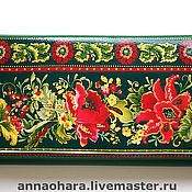 Сумки и аксессуары handmade. Livemaster - original item Women`s leather wallet Russian style Gift March 8. Handmade.