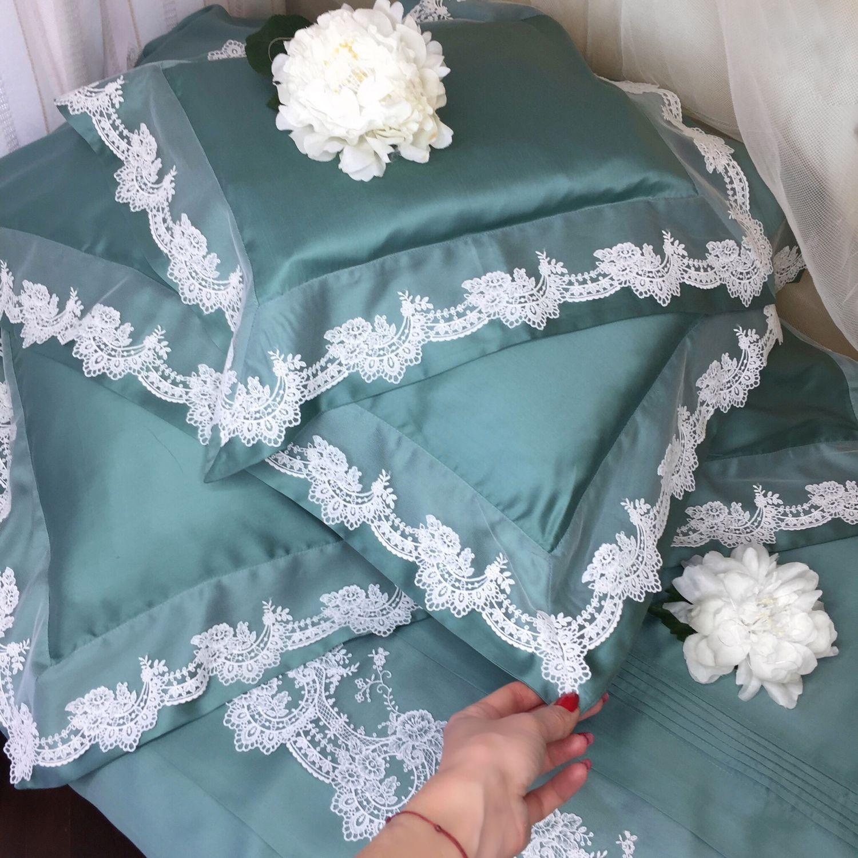Шелковое постельное белье с кружевом, Подарки, Самара,  Фото №1