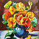 Pansy. Flowers in a blue vase, Pictures, Rostov-on-Don,  Фото №1