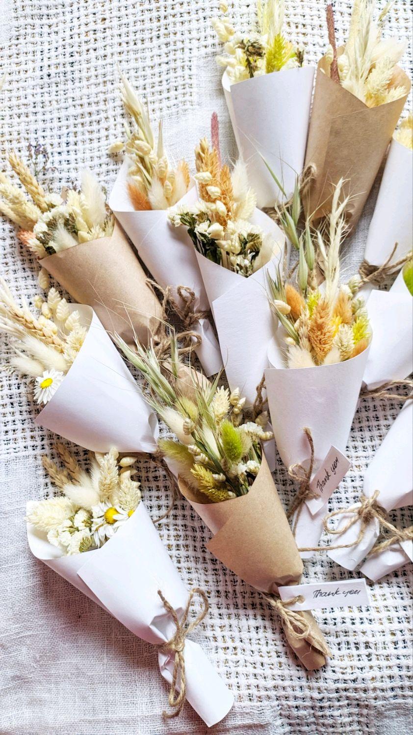 Букетики мини в эко стиле. Сухоцветы, Цветы сухие и стабилизированные, Москва,  Фото №1