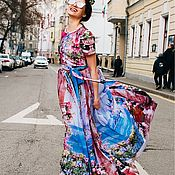 Одежда handmade. Livemaster - original item Floral floor-length dress. Handmade.