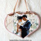 Подарки к праздникам ручной работы. Ярмарка Мастеров - ручная работа Интерьерное сердечко-подвеска Любовь. Handmade.