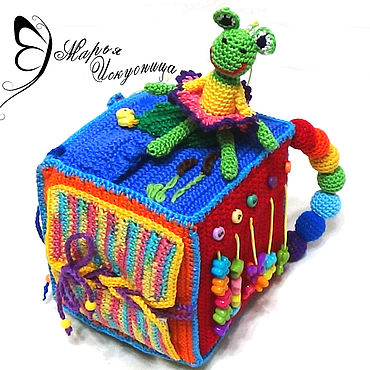 """Куклы и игрушки ручной работы. Ярмарка Мастеров - ручная работа Развивающий кубик """"Занимашка"""". Handmade."""