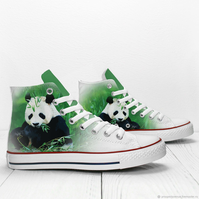 Обувь ручной работы. Ярмарка Мастеров - ручная работа. Купить  Панда жует  бамбук  ... b1f85cc208f44