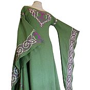 Dresses handmade. Livemaster - original item Medieval linen dress