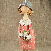 Для дома и интерьера handmade. Livemaster - original item Doll Girl in red. Handmade.