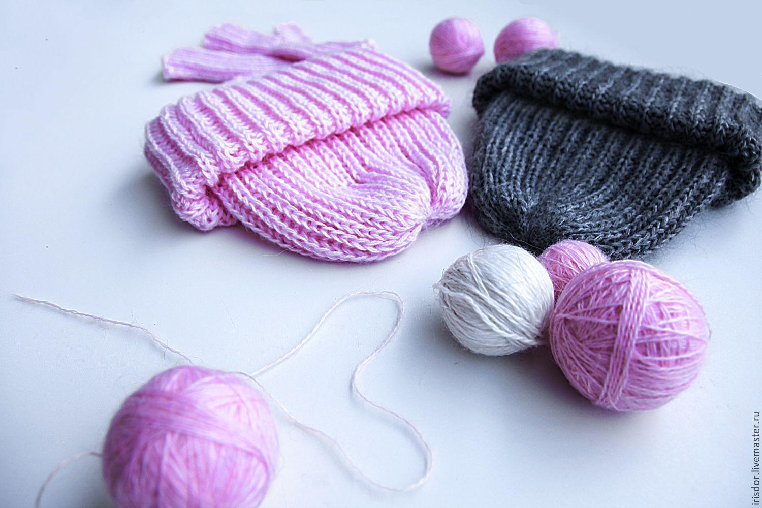 Узоры вязания для шапок из мохера