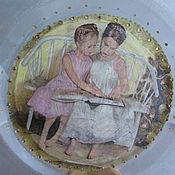 Посуда handmade. Livemaster - original item Decorative plate,Sisters,,. Handmade.
