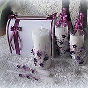 Свадебный салон ручной работы. Ярмарка Мастеров - ручная работа Свадебный комплект Фиолетовый-2. Handmade.