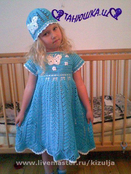 Одежда для девочек, ручной работы. Ярмарка Мастеров - ручная работа. Купить Комплект Летнее небо. Handmade.